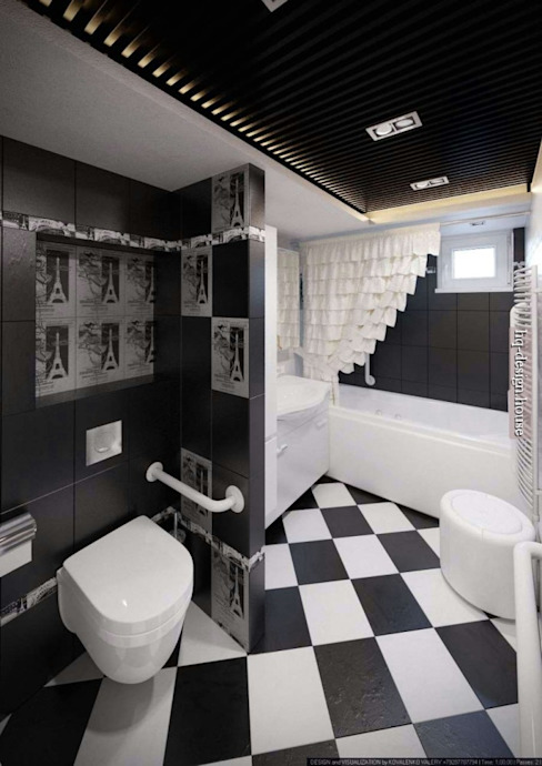 Коттедж 150 кв.м. в Энгельсе, Волжский проспект Ванная комната в стиле модерн от hq-design Модерн