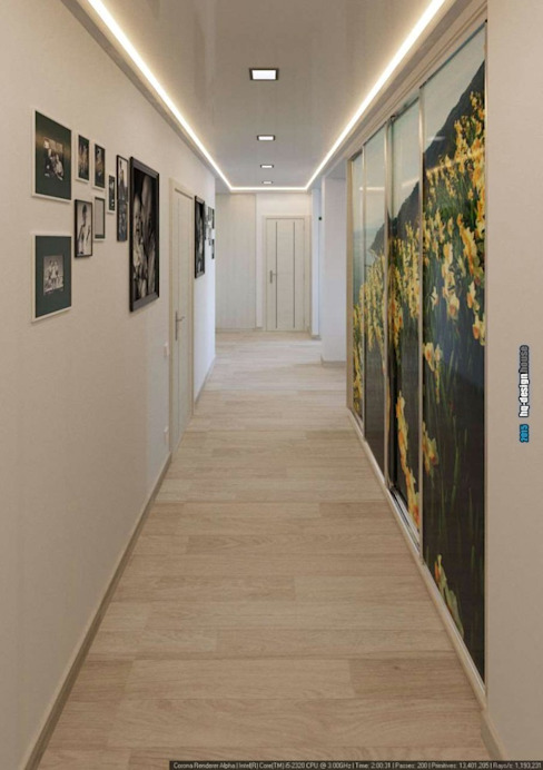 Modern Corridor, Hallway and Staircase by hq-design Modern