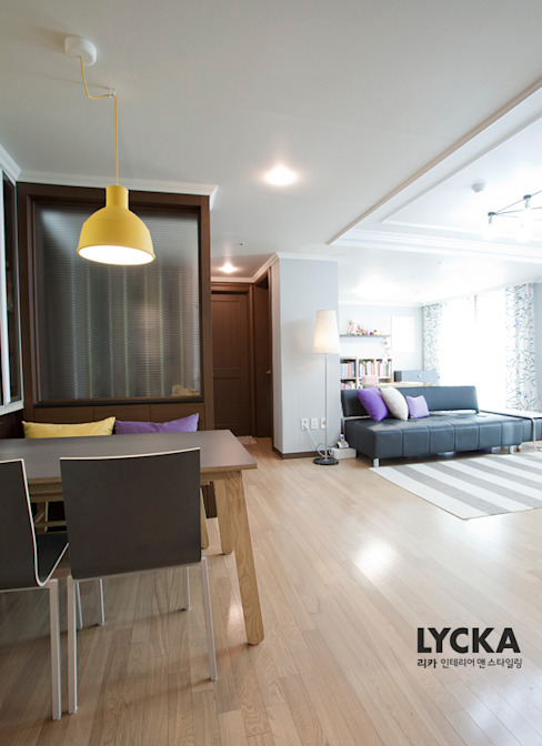 판교 아파트 홈드레싱: LYCKA interior & styling의  다이닝 룸,북유럽