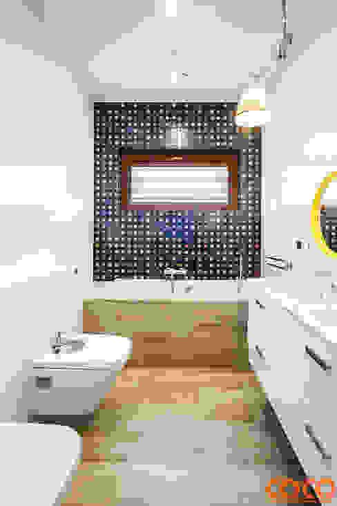 Dziecięca łazienka: styl , w kategorii Łazienka zaprojektowany przez COCO Pracownia projektowania wnętrz,