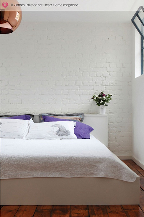 A Converted Warehouse in East London Industrial style bedroom by Heart Home magazine Industrial