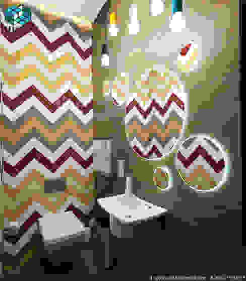 Baños de estilo  por HUGO, Minimalista Azulejos