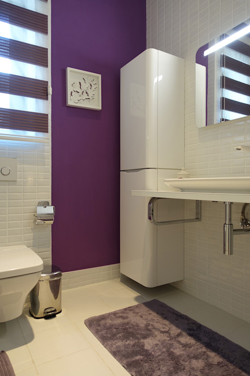 Small bedroom J.Design Modern Banyo Mor