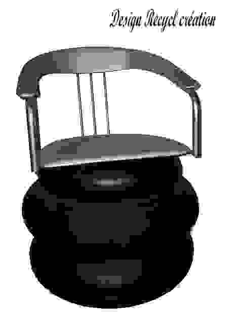 Fauteuil tires par Design Recycl Éclectique Fer / Acier
