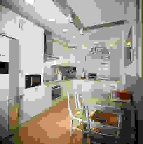 Проект 2х комнатной квартиры Кухня в стиле модерн от Инна Михайская Модерн