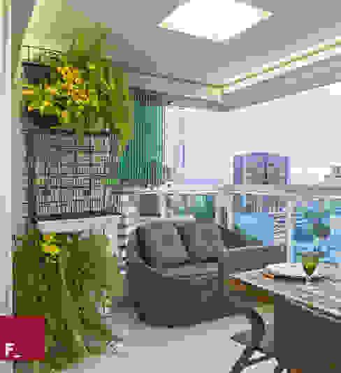 homify Balconies, verandas & terraces Plants & flowers