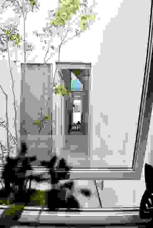 House for DONKORO シキナミカズヤ建築研究所 모던스타일 정원