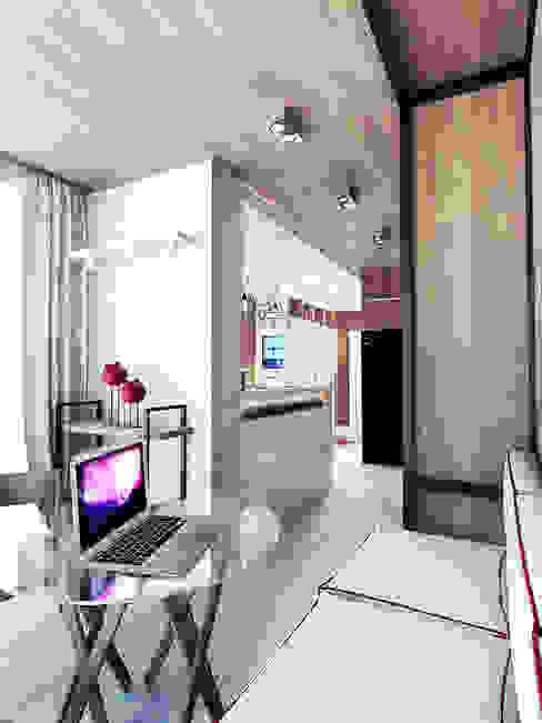 Minimalist Balkon, Veranda & Teras IK-architects Minimalist