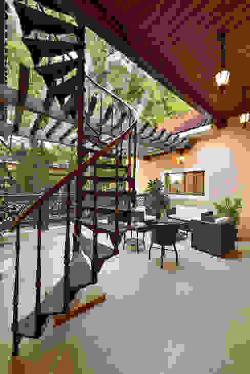 Terrace Minimalist balcony, veranda & terrace by ARK Reza Kabul Architects Pvt. Ltd. Minimalist