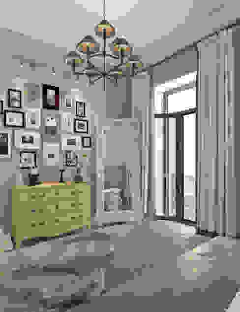 Котова Ольга Scandinavian style bedroom Yellow