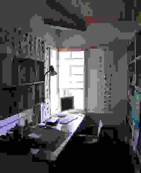 書斎 和風デザインの 書斎 の 計画工房 辿 和風 無垢材 多色
