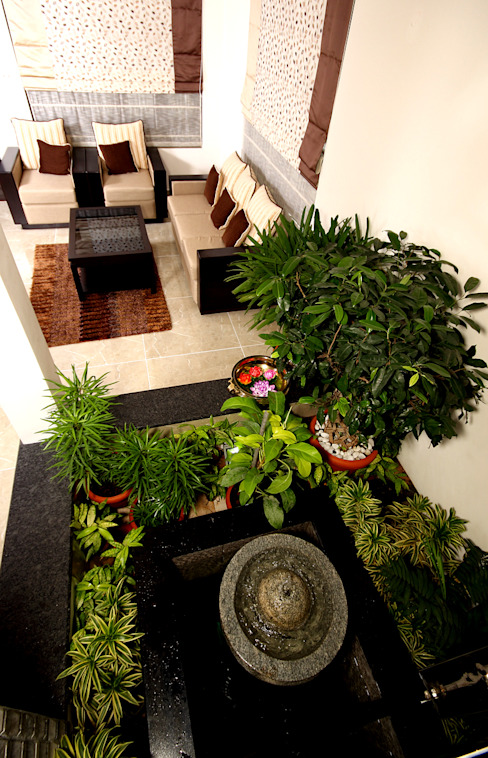 The pleasing element Sanskriti Architects Eclectic style corridor, hallway & stairs