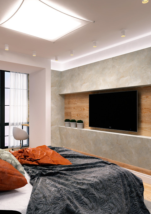 LOFT на Менякина Спальня в стиле лофт от QUADRUM STUDIO Лофт