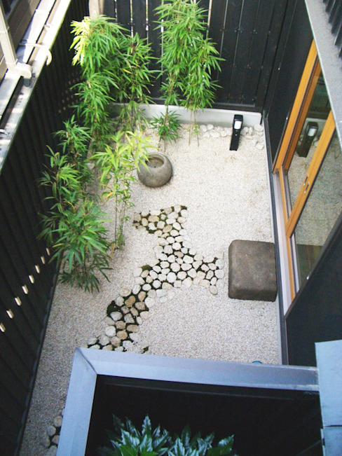 Garden by 酒井光憲・環境建築設計工房, Eclectic Wood Wood effect
