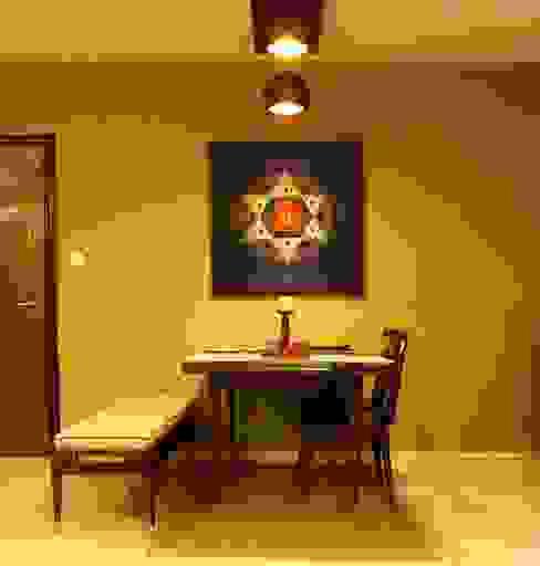 Residence at Raheja, Powai Asian style dining room by JRarchitects Asian