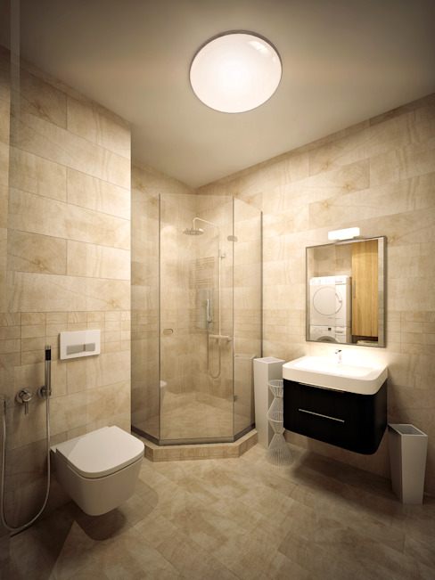 Михаил Новинский (MNdesign) Minimalist style bathrooms