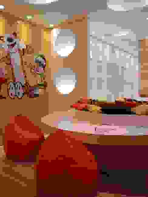 Chambre d'enfant moderne par ANNA MAYA ARQUITETURA E ARTE Moderne Papier