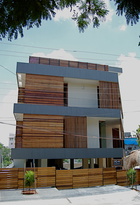K HOUSE Asian style houses by KIRON CHEERLA ARCHITECTURE Asian Wood Wood effect