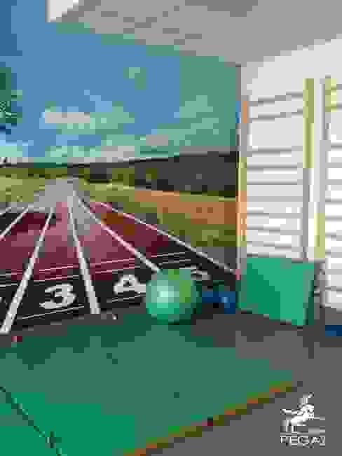 Salle de sport moderne par Pegaz Design Justyna Łuczak - Gręda Moderne
