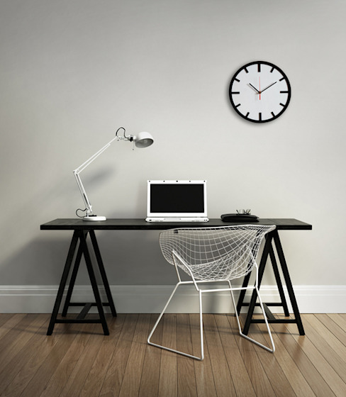 Scandi Clock - wooden clock, simple, modern de Silva Design Escandinavo Contrachapado