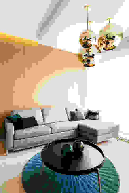 mieszkanie prywatne 3 pokoje - Nowe Orłowo - Gdynia Nowoczesny salon od Anna Maria Sokołowska Architektura Wnętrz Nowoczesny