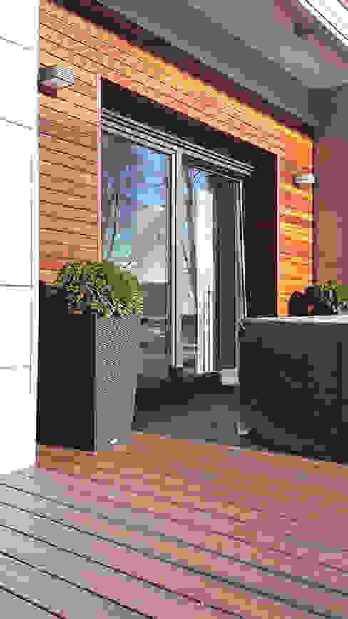 Modern style gardens by Biuro Projektów MTM Styl - domywstylu.pl Modern