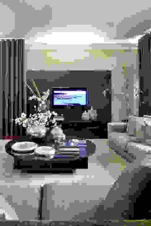 غرفة المعيشة تنفيذ Jorge Cassio Dantas Lda, حداثي
