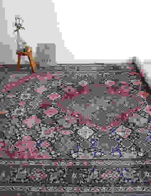 Groot vintage wollen kleed, Louis de Poortere, Perzisch tapijt van Flat sheep Aziatisch Wol Oranje
