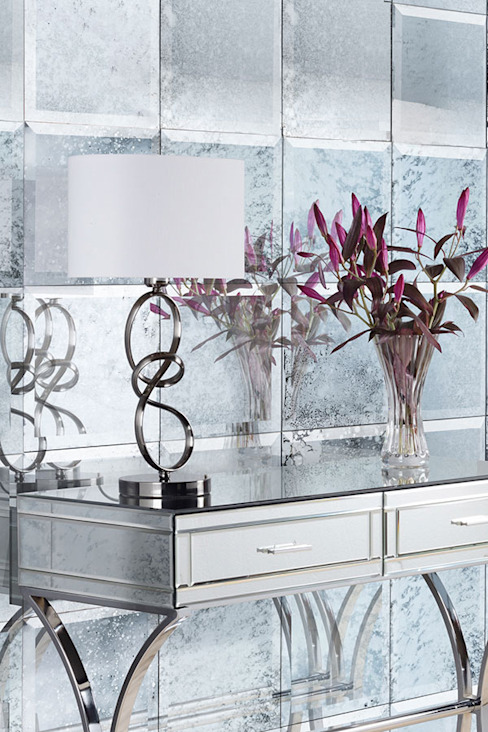 6 x Antique Mirrored Square Wall Tiles - Bevelled - 30cm x 30cm: modern  by My Furniture, Modern