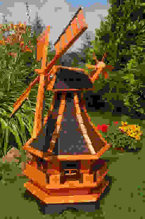 Windmühle mit Solarbeleuchtung, Windmill von Deko Shop Hannusch Klassisch Holz Holznachbildung