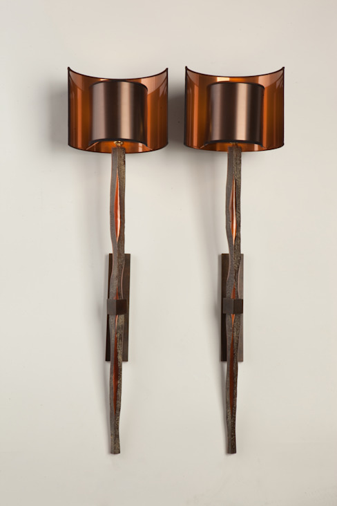 """Appliques """"Torches"""" par CANDIDE BRONZE D'ART Moderne"""