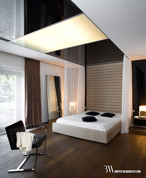 Sypialnia: styl , w kategorii Sypialnia zaprojektowany przez Bartek Włodarczyk Architekt,Minimalistyczny