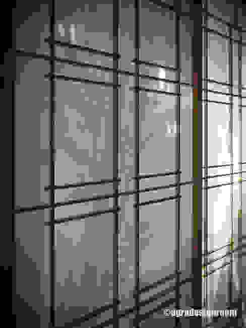 障子は最高の遊び道具 モダンデザインの リビング の アグラ設計室一級建築士事務所 agra design room モダン