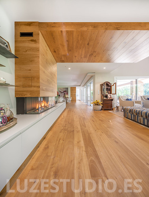 Salas de estar modernas por Luzestudio - Fotografía de arquitectura e interiores Moderno