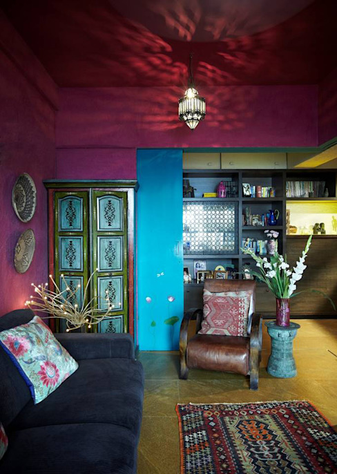 Den area Eclectic style media rooms by homify Eclectic