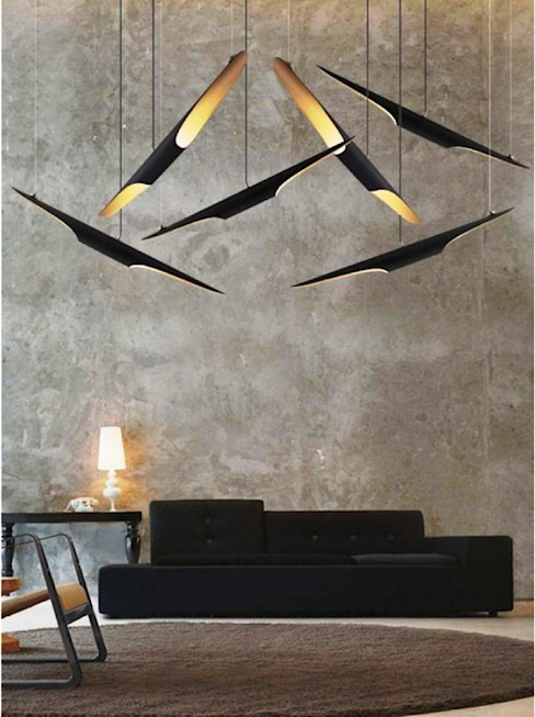 Lámpara Colgante Modelo Coltrane de 4 home store Moderno Aluminio/Cinc