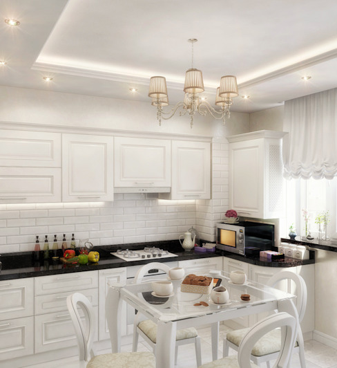 Cocinas modernas de Студия дизайна Interior Design IDEAS Moderno