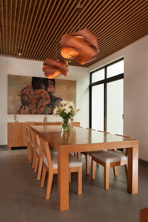 Dining room by LGZ Taller de arquitectura, Modern Wood Wood effect