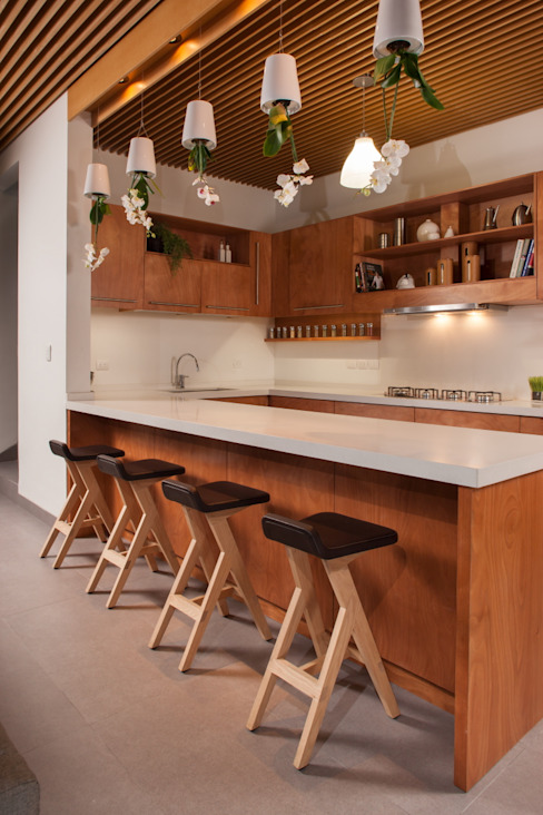 LGZ Taller de arquitectura Kitchen Wood Wood effect