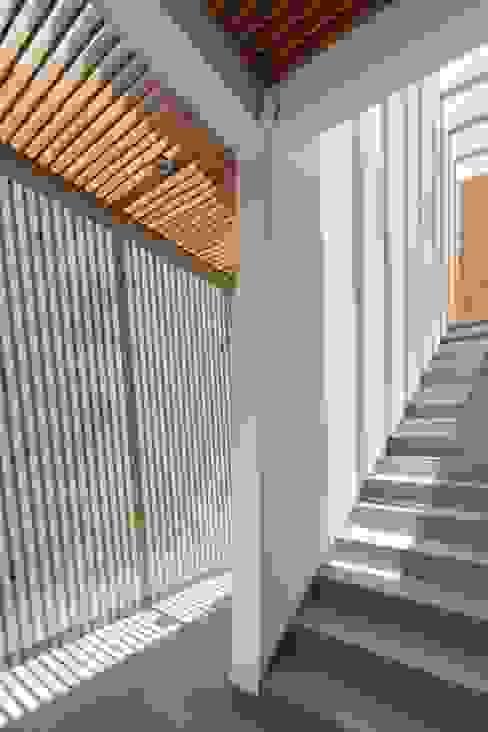 Hành lang, sảnh & cầu thang phong cách hiện đại bởi LGZ Taller de arquitectura Hiện đại gốm sứ