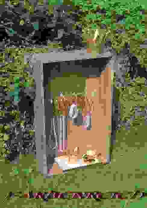 Spiegel mit Kettenhalter - Upcycling von FARBENREICH Rustikal Holz Holznachbildung