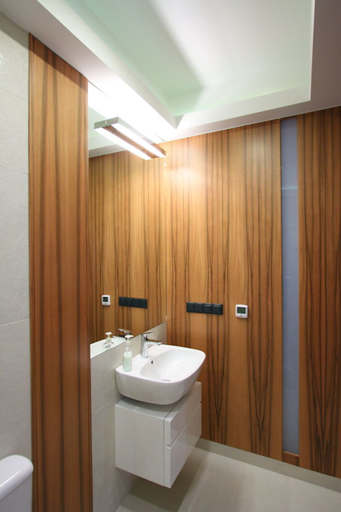 apartament miasteczko wilanow Nowoczesna łazienka od PIKSTUDIO Nowoczesny