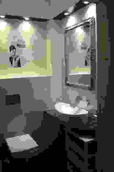 wc goscinne Nowoczesna łazienka od Julia Domagała wnętrza Nowoczesny