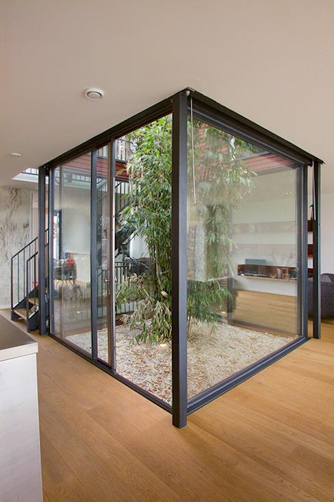 VILLA DE WAARD MENSINK, Ijburg, Amsterdam KENK Architecten KENK architecten Moderne ramen & deuren
