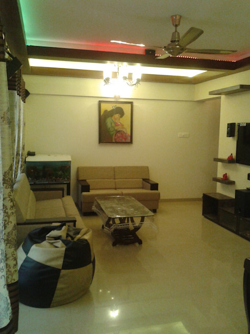 Living Area Modern living room by Global Associiates Modern