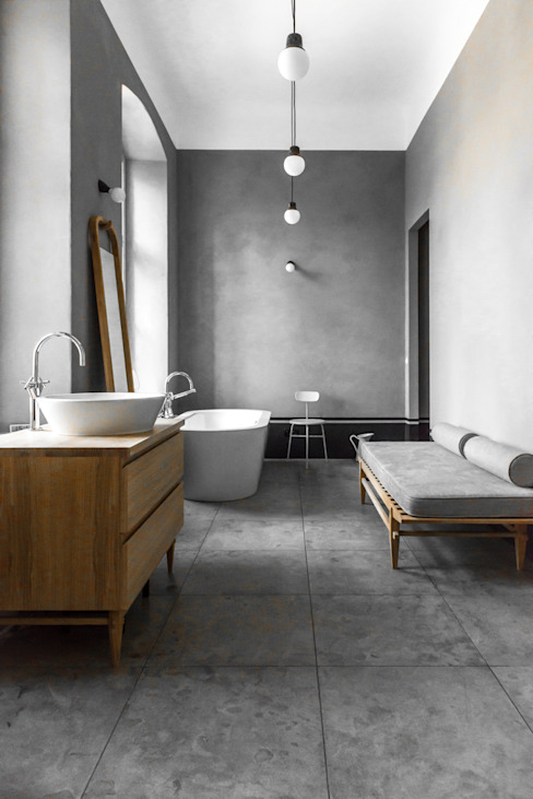 Master bathroom Industrial style bathroom by Loft Kolasinski Industrial Stone