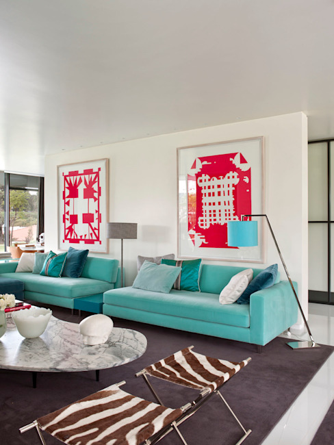 Salon moderne par SA&V - SAARANHA&VASCONCELOS Moderne