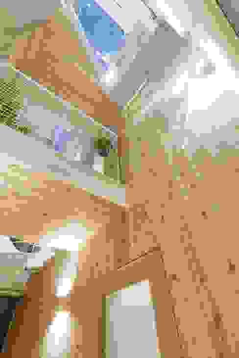 千歳烏山の家: ディンプル建築設計事務所が手掛けた廊下 & 玄関です。,モダン 無垢材 多色