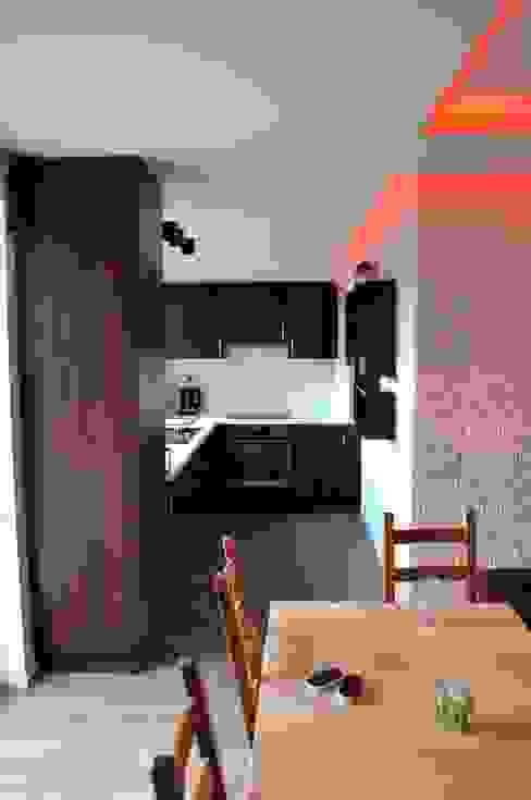 Mieszkanie 55m2 na Osiedlu pod Wierzbami w Dąbrowie Górniczej: styl , w kategorii Kuchnia zaprojektowany przez Ale design Grzegorz Grzywacz,