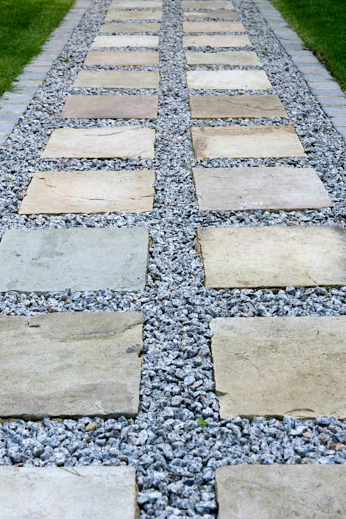 Sandstone & Aggregate Path by Earth Designs Modern سندھ